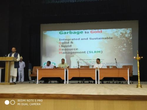 """2 days workshop (12-10-2018 and 13-10-2018) on the topic """"Garbage to Gold"""" by Mr. C. Srinivasan, Project Director, SLRM organised by SMCG-UP and inaugurated by Hon'ble Urban Development Minister Shri Suresh Kumar Khanna"""