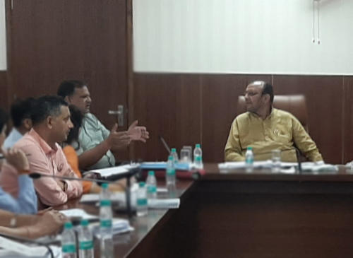 Budget related review meeting of Urban Development Department chaired by Hon'ble Minister Shri Suresh Kumar Khanna, Urban Development Department - Uttar Pradesh.