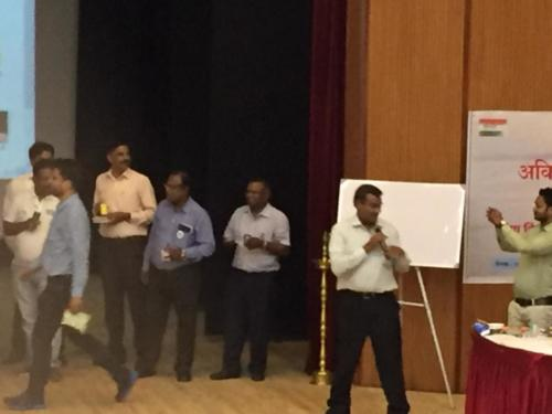 "Activities during workshop  ""Garbage to Gold"" by Mr. C. Srinivasan"